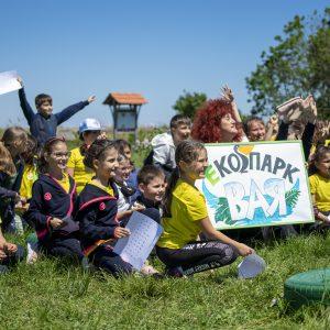 """Ученици проведоха """"зелен"""" урок в Екопарк """"Вая"""""""